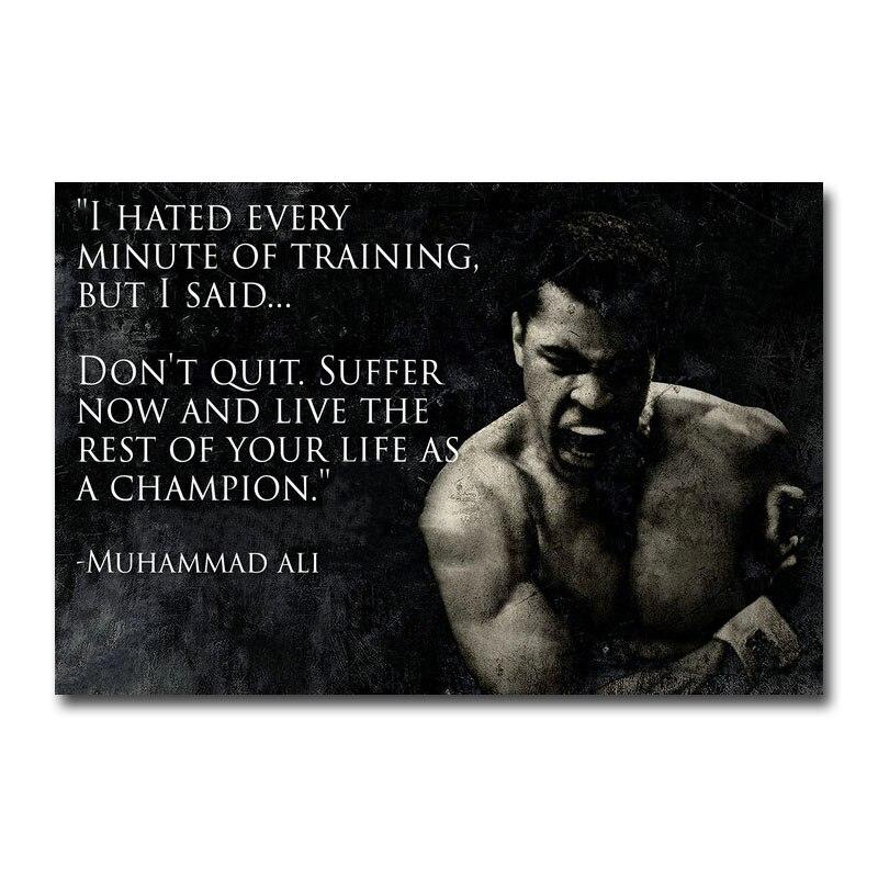 Muhammad Ali 34 Boxer Sport Fight Poster Motivation Inspiration Quote Photo