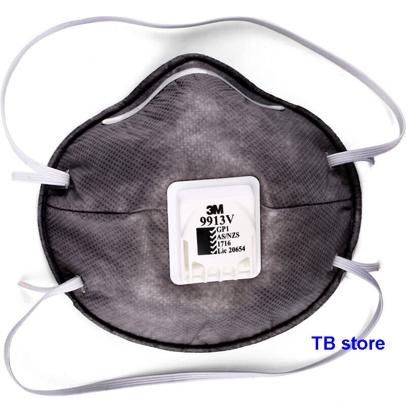 Activated With Respirator Mask Kp90 3m Carbon 9913v Breathing