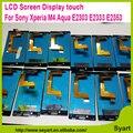 100% genuine melhor qualidade 5.0 ''new para sony xperia m4 aqua e2303 e2333 e2353 digitador montagem da tela de toque lcd preto exibição
