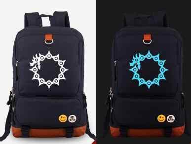 Anime The Seven Deadly Sins Luminous Backpack Nanatsu No Taizai Meliodas  Printed Boys Girls School Bags 01498ee78340b