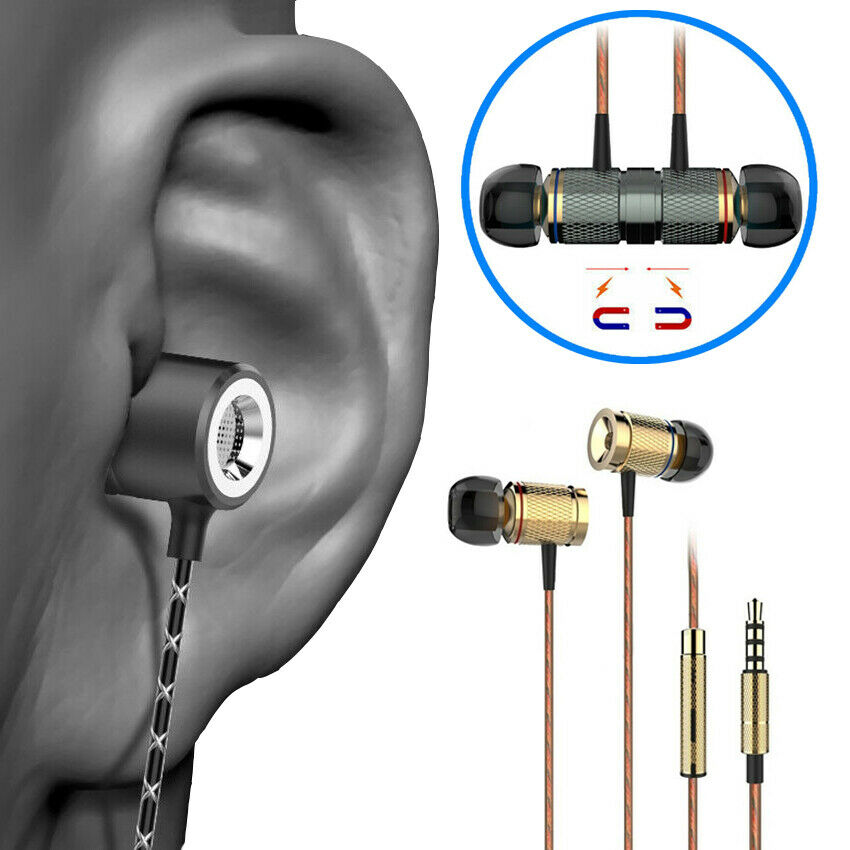 3.5mm Magnetic Sport Headphones with Build-in Mic Waterproof Wired Earphone Bass fidelity music headphones Gaming Headset