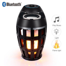 Portable Led Flame Speaker Home Bluetooth Atmosphere Soft Light Woofer Mini Outdoor Camping Stereo Music Box Bluetooth Speaker bluetooth speaker nillkin 2 in 1 phone charger power bank music box speaker portable multi color led light lamp outdoor bedroom