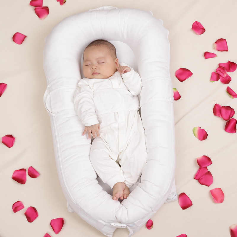 Small Sago Wood Portable Baby Bed Biomimicry Bed Newborn Bb Bed Infant Bed Emperorship Baby Brand