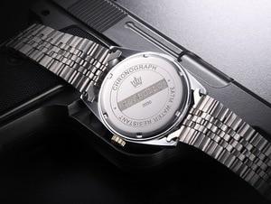 Image 5 - TORBOLLO Brand New Quartz Watch Men Silver Blue Date Analog 3ATM Waterproof Mens Wrist Watch relogio masculino With original box