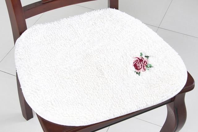 Estilo japonés de felpa de algodón cojines para sillas bordadas ...