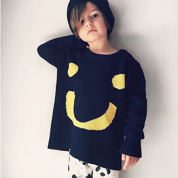 Baby Boys Girls Pullovers Toddler Big Smile Sweater KIDS Bebe Cotton Funny Tops Knitted Clothes Autumn Christmas Gift