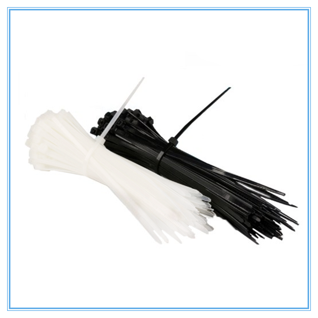 100PCS 3 X 60/80/100/120/150/200mm White Black Milk Cable Wire Zip Ties Self Locking Nylon Cable Tie