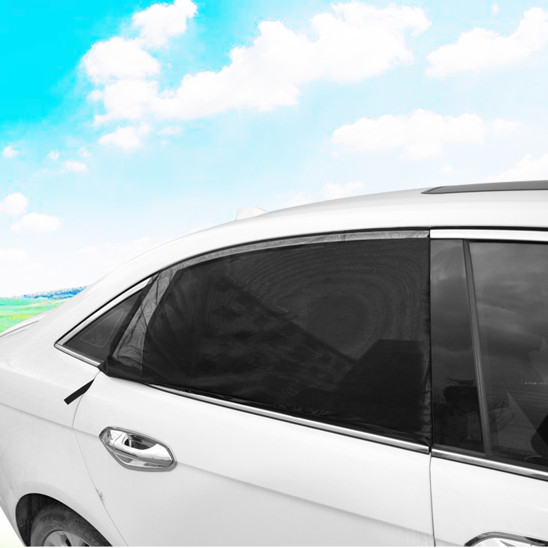 029a929b709e 2x Car Side Window Sock Sunshade Visor Mosquito Net For Baby Kid Pet  Breathable Sun Shade Mesh Backseat Block Curtains Black-in Car Covers from  Automobiles ...