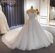 New plus size abito da sposa con maniche bianco abito da sposa