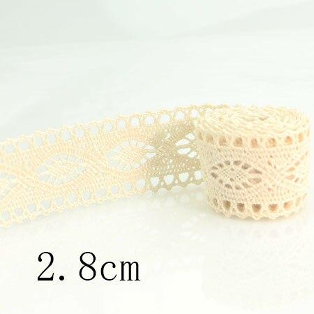 HTB10hhmfInI8KJjSsziq6z8QpXav 4YARD Apparel Sewing Fabric DIY Ivory Cream Black Trim Cotton Crocheted Lace Fabric Ribbon Handmade Accessories Craft 11021
