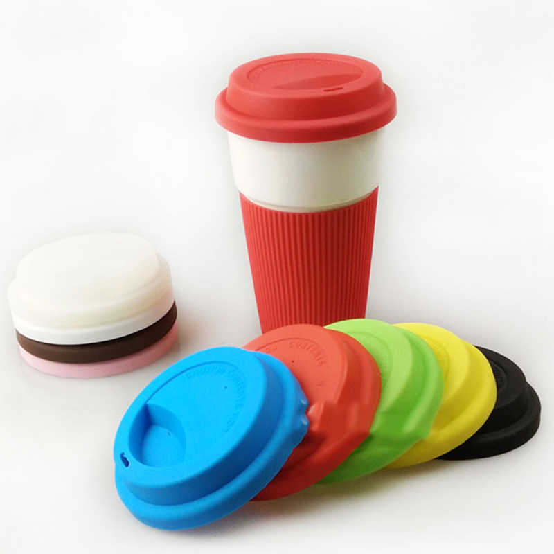 Universal Reusable Silicone Stretch Lids 9.5Cm Food Fresh Cover Silicone Insulation Anti-Dust Cup Cover Tea Coffee Sealing Lids