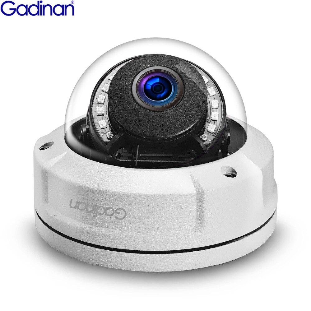 GADINAN IP Caméra H.265 5MP 15FPS (4MP 25FPS) anti-vandalisme caméra Étanche de Vision Nocturne IR 25 m P2P ONVIF Détection de Mouvement POE En Option