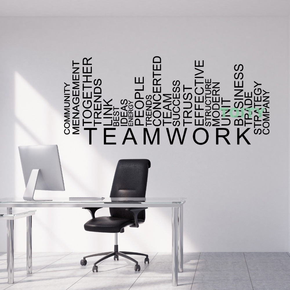 Vinyl Wall Decal Teamwork Words Business Office Decor