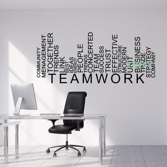 vinyl wall decal teamwork words business office decor sticker home