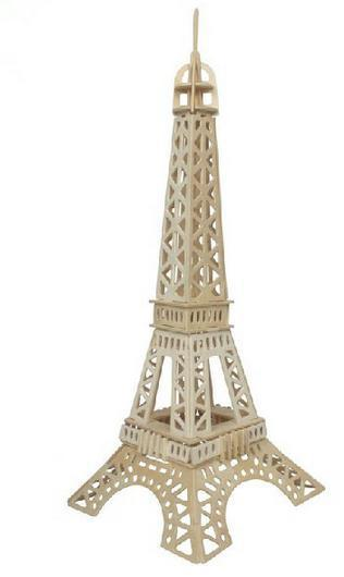 ОСГТ Деревянная Модель 3D Эйфелева Башня Головоломки Игрушки Коллекционные Украшения для Дома, 55 см