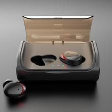 T8 Bluetooth гарнитура TWS Bluetooth 5,0 наушники IPX7 водонепроницаемые HIFI Стерео шумоподавление спортивные наушники с зарядным чехлом