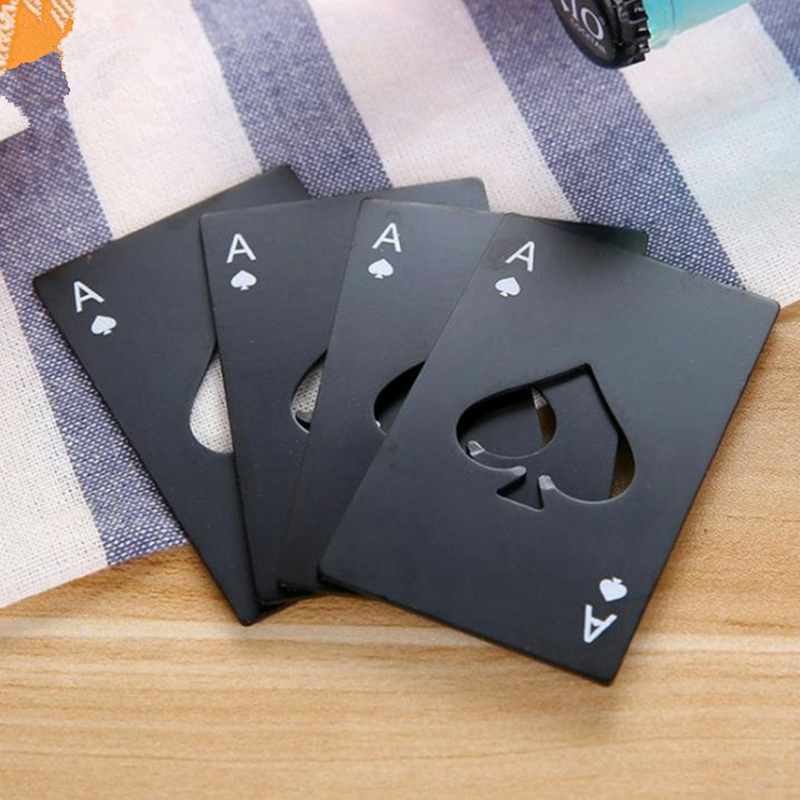 Stainless Steel Creative Poker Card Beer Bottle Opener Personalized Funny Credit Card Bottle Opener Card of Spades Bar F20172963
