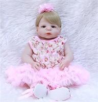 DollMai bebes reborn blonde hair girl dolls full silicone reborn baby dolls fake baby princess doll can enter water bonecas