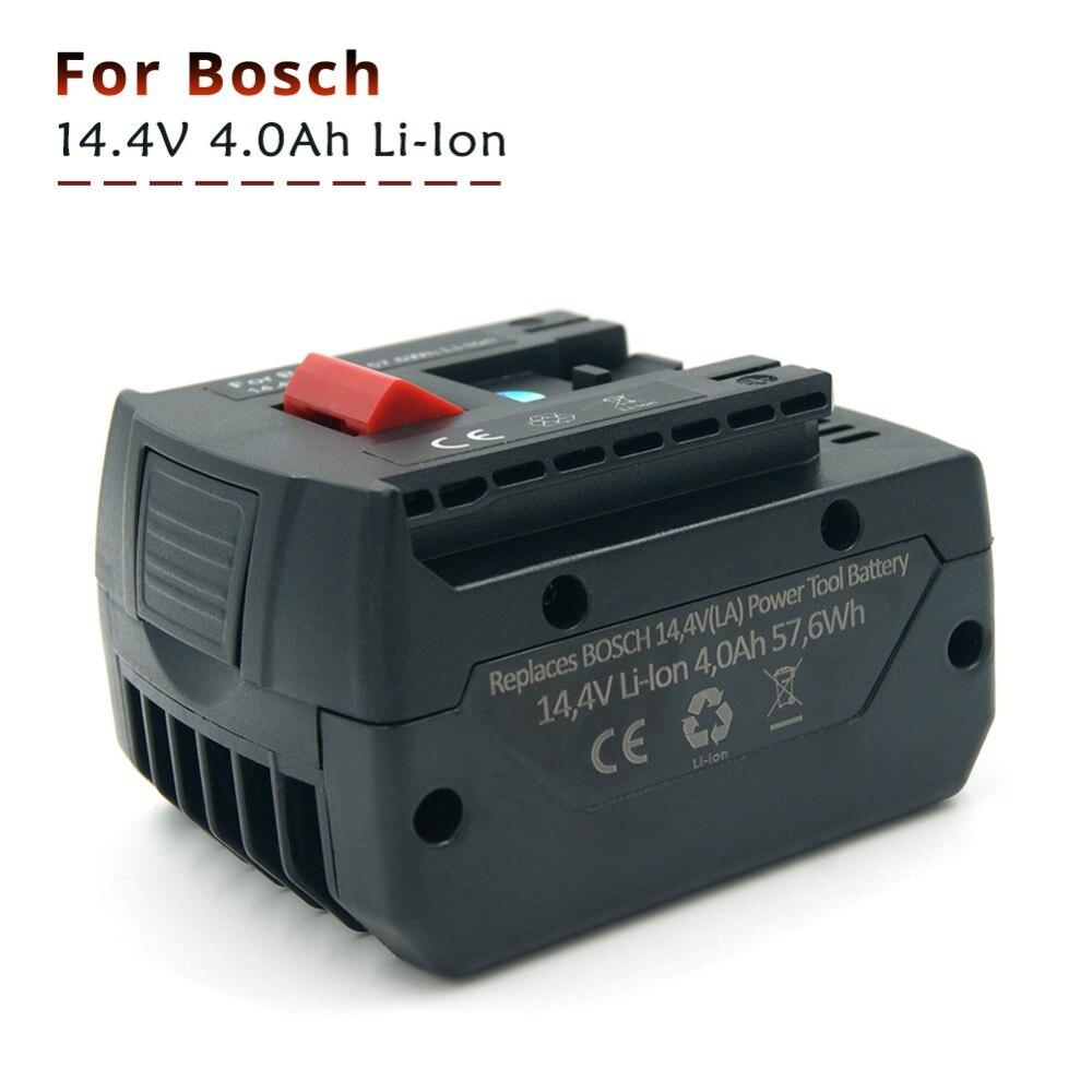 4000 mah 14.4 v Al Litio Batteria Trapano Avvitatore a Batteria Bosch Power Tool BAT607 BAT614 GSR 1440-LI, HDB180-02, PB360S, TSR 1080-LI