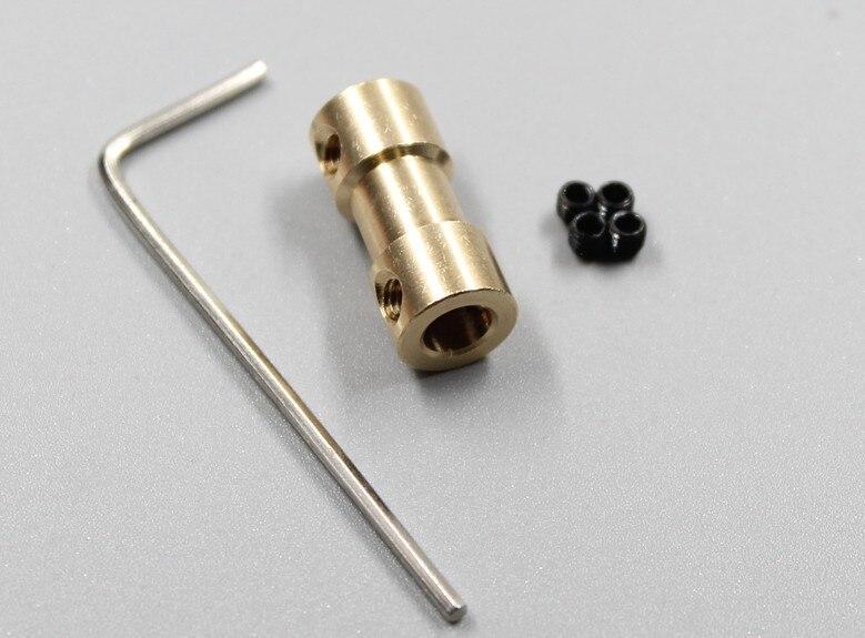 Motor tengelykapcsoló tengely hajtó alkatrészek motor motor csatlakozó fém modell tengelykapcsoló repülőgép modell tartozékok