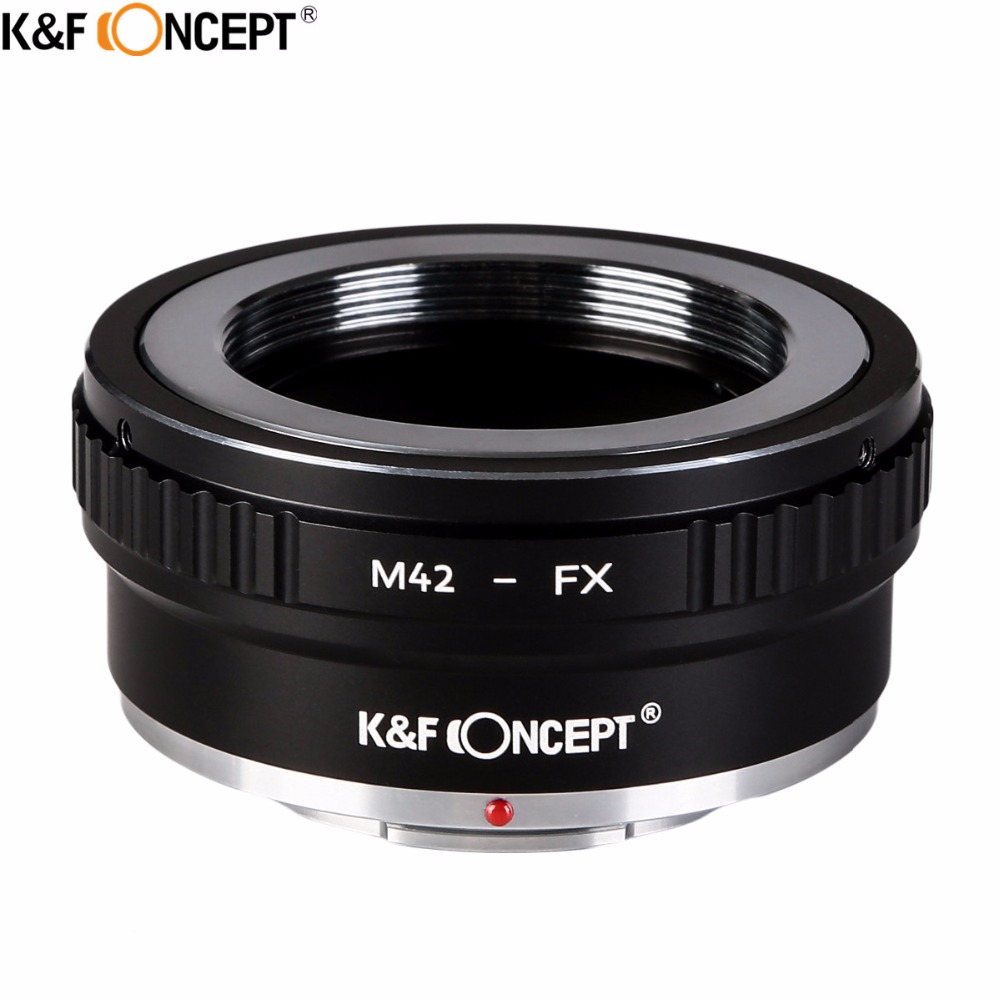 K & F CONCEPT M42-FX II cámara DSLR adaptador de montaje de lentes para M42 tornillo montaje lente para Fujifilm FX lente de la serie X Microless
