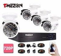 Tmezon 960H 4CH HDMI DVR 800TVL IR Cut Security Bullet Camera CCTV Surveillance System Outdoor Waterproof