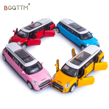 1:36 kids Toys Extended Limousine Metal Toy Cars diecast Model Pull Back Flash Music/Sound Car Miniatures Gift For Boys Children