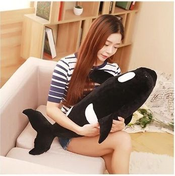 middle plush Killer whale toy lovely killer whale pillow doll gift about 80cm 2604