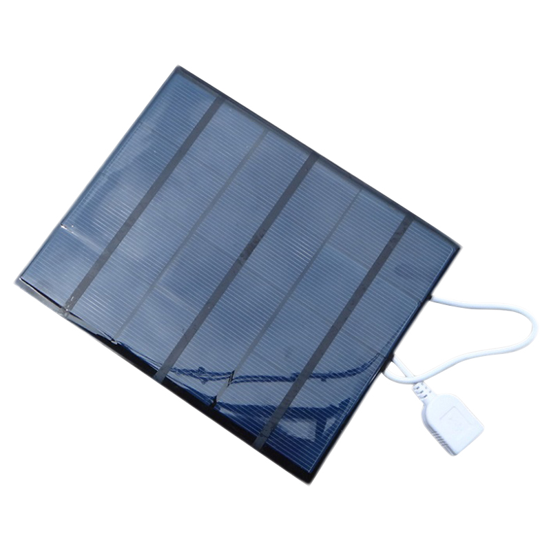 3 5W Solar Charger For Mobile Phone Mobile Power Bank Charger Polycrystalline Solar Panel Charger USB