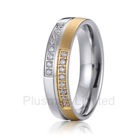 2016 China Supplier lovely and romantic women accessories gift 6mm pure titanium wedding band rings