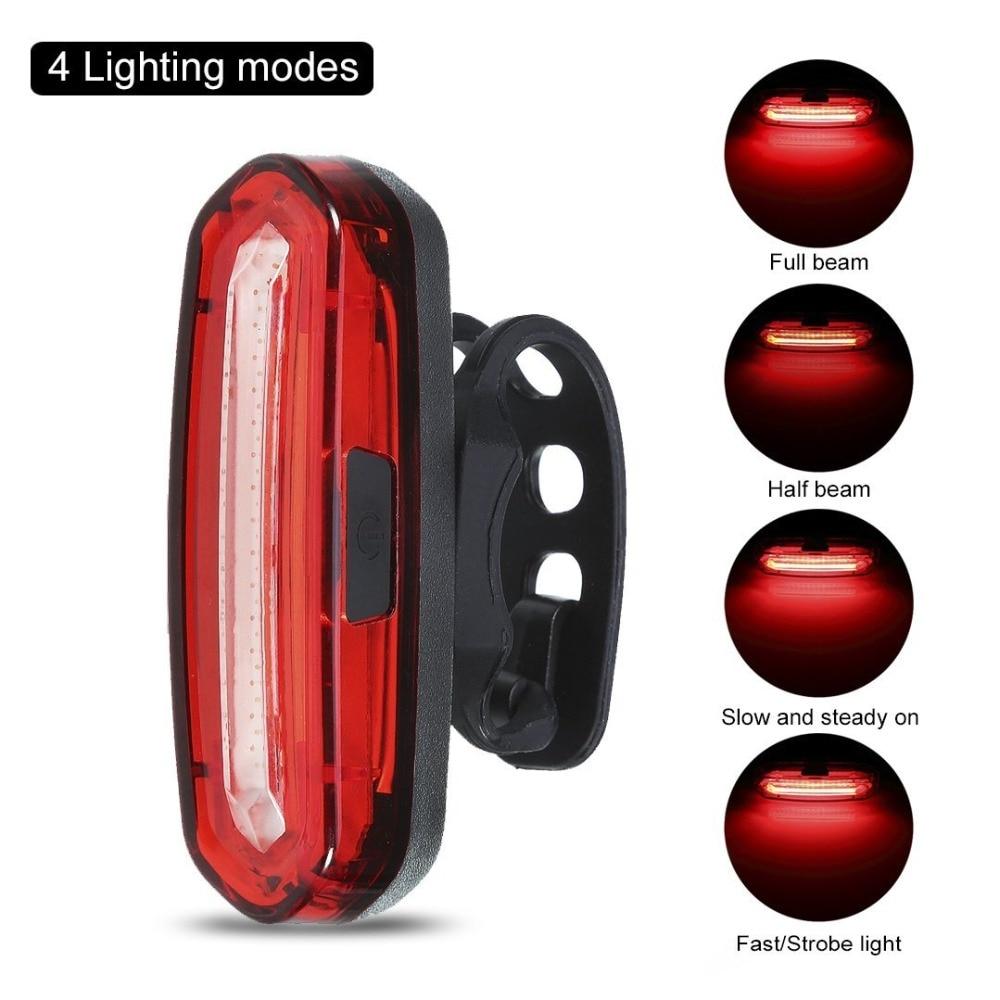 IceFire COB Waterproof IPX6 Powerful 120 Lumens Rechargeable USB LED Bike Rear Lights