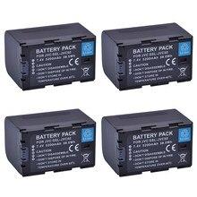 Bateria para JVC GY-HM600 4Pcs SSL-JVC75 SSLJVC75 SSL-JVC50 JVC50, GY-HM650, GY-HMQ10, GY-LS300 Baterias Camcorder