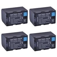 4Pcs SSL JVC75 SSLJVC75 SSL JVC50 JVC50 Battery for JVC GY HM600, GY HM650, GY HMQ10, GY LS300 Camcorder Batteries