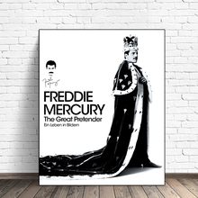 Freddie Mercury The Great Pretender Canvas Posters Prints Wall Art Painting Decorative Picture Modern Home Decoration Framework