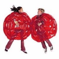 TSAI 2 Color 60CM Body Bumper Balls Bubble Soccer Suits LOT Environmentally Friendly PVC Funny Body Zorb Ball For Kids 24
