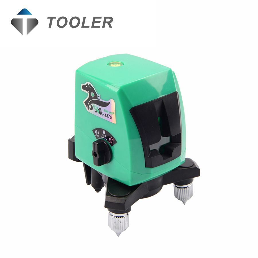New 2017 model ACULINE , AK437G green 2 lines green laser level , green ray level , LASER LEVEL spinderella level 2