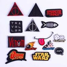 Punk Biker Patch Star Wars Badges Patches Embroidered Letter Iron on For Clothing Vikings Accessories DIY