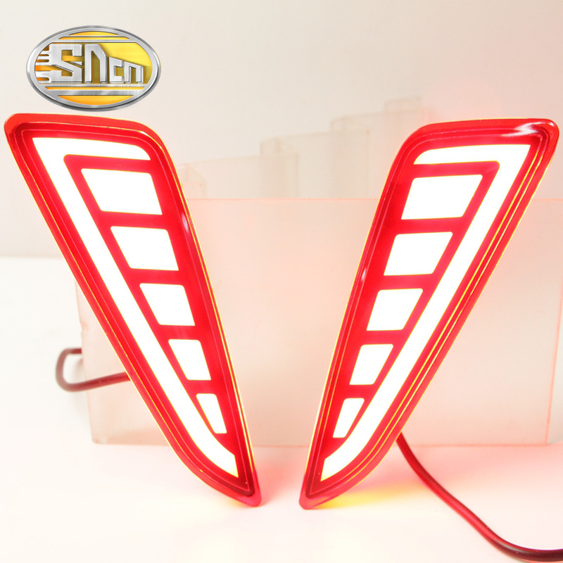 SNCN Multi-function LED Reflector Lamp Rear Fog Lamp Rear Bumper Light Brake Light For Toyota C-HR CHR 2016 2017 new for toyota altis corolla 2014 led rear bumper light brake light reflector novel design top quality fast shipping
