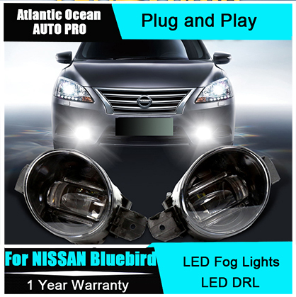 Auto Pro Car Styling LED fog lamps For NISSAN Bluebird led DRL lens For NISSAN Bluebird LED fog lights led daytime running light for nissan primera estate wp12 2002 2015 car styling led light emitting diodes drl fog lamps