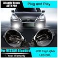 Auto Pro Car Styling LED fog lamps For NISSAN Bluebird led DRL lens For NISSAN Bluebird LED fog lights led daytime running light