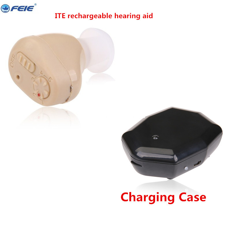 Feie Ear Care Hearing Aide Cheap Rechargeable ITE Hearing Aid Sound Amplifier S-219 ear Aide Medical Products Popular ite it8718f s hxs