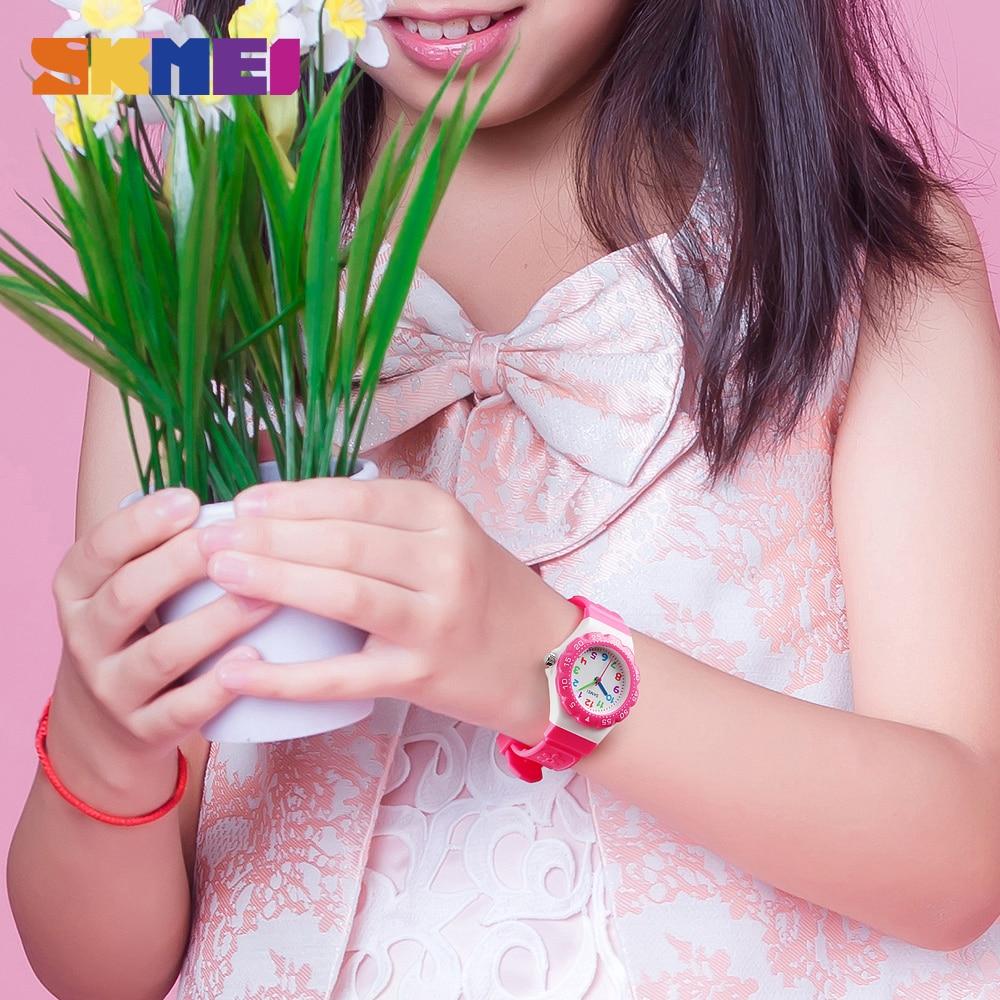 SKMEI Cartoon Fashion Children's Quartz Watch 50 Meters Waterproof Plastic Shell PU Wristband Boys and Girls Students Watch 1483