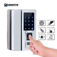 Стекло дверь интеллектуальный электронный замок Сенсорный экран отпечатков пальцев/пароль товара/RFID Карты Keyless ригель Smart Lock
