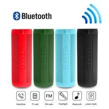 цена на Portable Wireless Bluetooth Speaker Outdoor Riding Audiobook Waterproof Flashlight Speaker Radio Music Subwoofer Column Speakers
