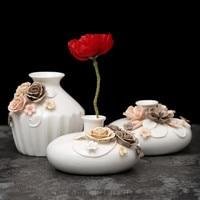 Chinese Modern Ceramic Vase for Wedding Decoration Home Decor Living Room Decoration Porcelain Vase Figure Vase