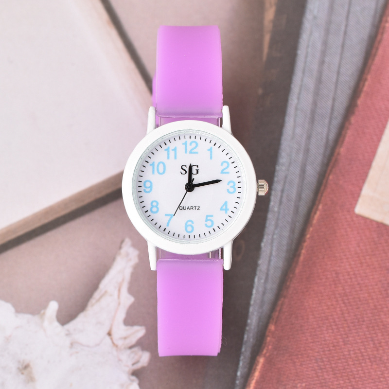 Colorful Fluorescent Strap Children Watch Casual Waterproof Kids Watches For Boys Girls Gift Student Clock Relogio Montre Enfant