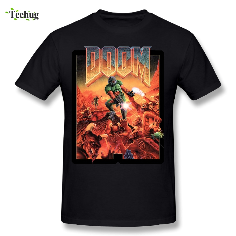 100% Cotton Man doom T-Shirt 3D Print Tees Casual Tee shirt Plus size Nice Short-sleeved
