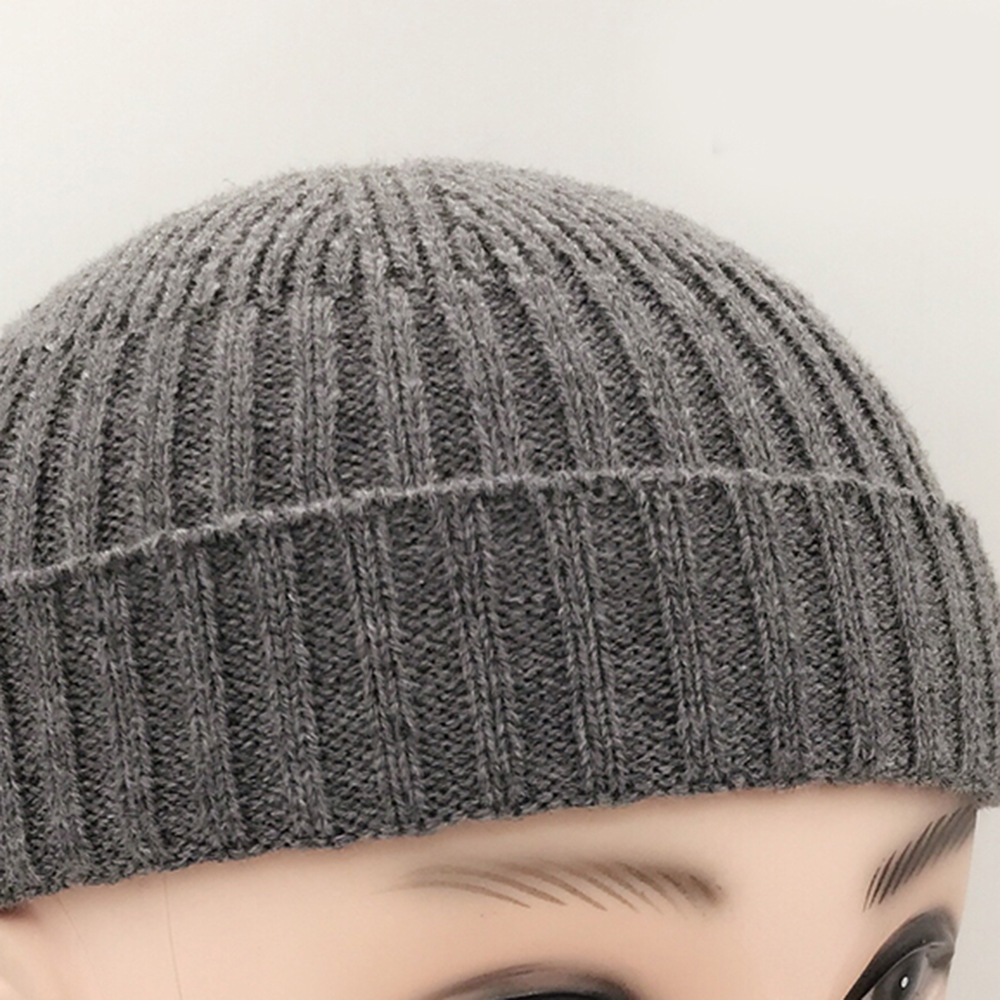9928536880a37 Aliexpress.com   Buy Vintage Fashion Men Knitted Hat Beanie Skull cap  Sailor Cap Cuff Black Navy Grey Retro from Reliable baseball cap hat  suppliers on ZL ...