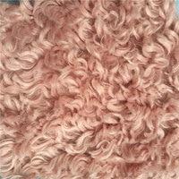 High quality cashmere loop fashion plush artificial fur long hair curled velvet