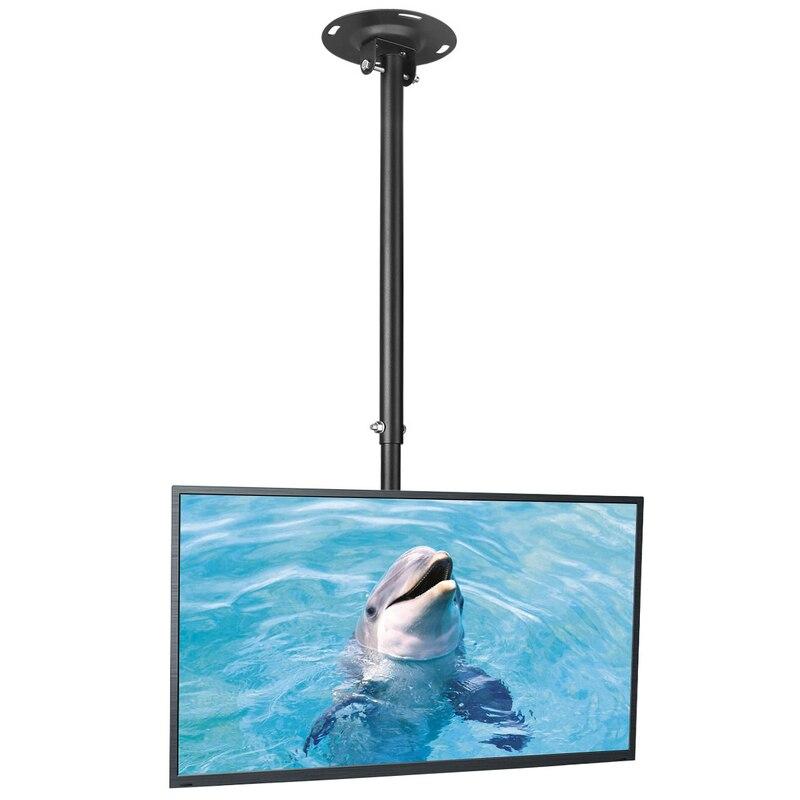 Support de montage TV au plafond adapté à la plupart des écrans plats à écran plat de moniteur Plasma de LED LCD 26-50
